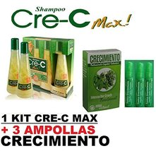 Shampoo Cre-C 3 bottles + Ampollas - $48.89