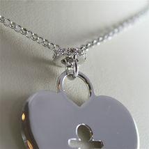 925 SILVER, AQUAFORTE NECKLACE, RHODIUM SILVER, HEART & BABY CHARM, SUPERLIGHT. image 4