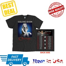 New Tour 2019 Celine Dion Courage World Tour T-Shirt All Size 2 Side  - $23.99+