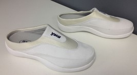 RYKA NWOB White Navy Stretchy Top Slip On Backless Comfort Sneakers Sz 7... - $108.89
