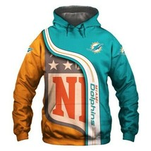 Nfl-Miami-Dolphins 3D Hoodie S-5XL , Gifts For Fans, Gift For Family - $35.31+