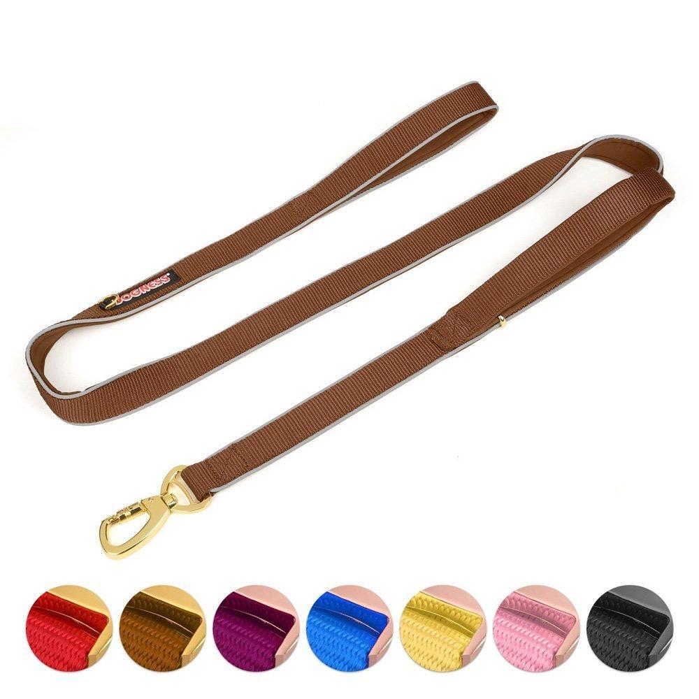 Double Handle Dog Leash Dual Handle Heavy Duty Soft Padded Reflective Nylon Dog  image 4