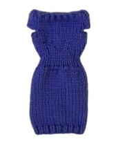 Barbie Doll Clothes Knit Purple Off Shoulder Sweater Dress Handmade - $5.99