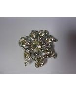 VintagStar flower silver tone vintage pin brooch stunning - $18.00