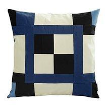 Black Temptation [Blue Puzzle] Handmade Unique Grid Decorative Pillowcase 48CM - $21.16