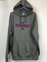 Adidas KU Kansas University Spellout XL Mens Hoodie Gray Sweatshirt Pull... - $14.81