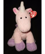 Ty Pluffies Castles Unicorn Pink Purple Plush Stuffed Animal Floppy Tags - $39.48