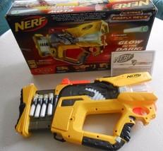 Hasbro NERF N-Strike Firefly REV-8 Glow In The Dark Gun w/ Box Darts Manual 2009 - $22.06