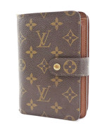 Authentic LOUIS VUITTON Monogram Bifold Snap Wallet Zippered Coin Purse ... - $279.00