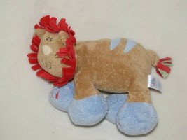 "Baby Gund 6"" Woodles Little Rumba 6"" Plush Lion Rattle Brown Blue Red #5... - $14.84"