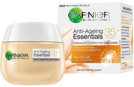 New Formula Day Cream Garnier Essentials 35+ Anti-Ageing Wrinkle Corrector 50ml - $14.01