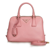Pre-Loved Prada Pink Others Leather Saffiano Lux Promenade Satchel Italy - $846.31