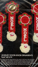 Bucilla Noel Santa Christmas Jeweled Door Knob Ornament Embroidery Kit 3606* - $16.00