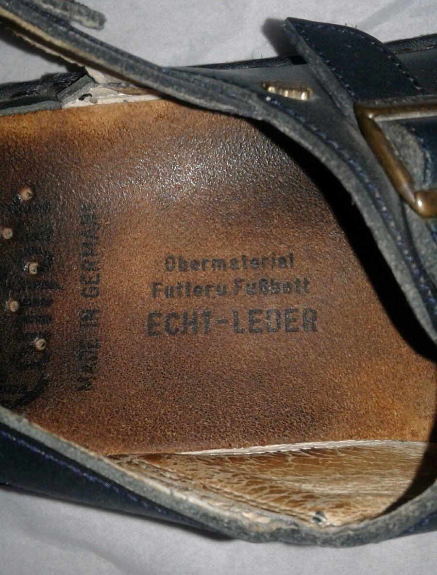 96d5c9f997b1 FINN COMFORT Ein Waldi Produkt Leather Sandals Made in West Germany US 9   EUR40