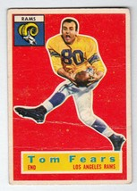 1956 Topps #42 Tom Fears Los Angeles Rams HOF end, good condition - $4.49