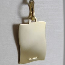 18K YELLOW GOLD SQUARE MEDAL REMEMBRANCE OF BAPTISM ENGRAVABLE MADE IN ITALY image 2