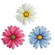 """Daisy Flower Design Metal Wall Plaque -Set of 3 -14"""" Round Indoor/Outdoor Garden"""