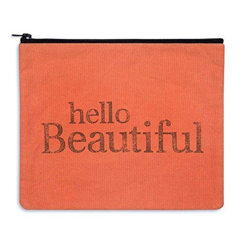 "Large Makeup Bag 11""x9"" Hello Beautiful"