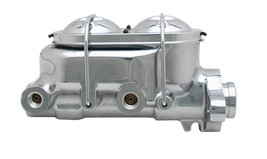 "UniversalCorvette Style Aluminum Chrome 1"" Bore Master Cylinder 9/16""-1/... - $103.94"