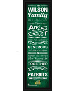 Personalized George Mason University Patriots 24 x 8 Family Cheer Framed... - $39.95