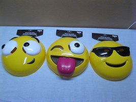 EMOJE EMOTIOCON MASK 14 AND UP NEW/COSTUMES SET OF 3 - $6.92