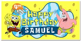 Spongebob Squarepants Custom Birthday Party Banner Decoration - £17.10 GBP