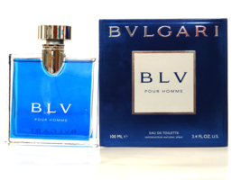 BLV POUR HOMME BY BVLGARI 3.4OZ (100ML) EDT SPRAY FOR MEN NEW IN BOX - $43.40