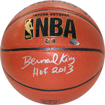 Bernard King signed Indoor/Outdoor NBA Spalding Basketball HOF 2013- Ste... - $109.95