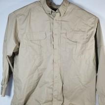 511 Tactical Mens 2XL Regular Long Sleeve Cargo Shirt Tan Beige - $32.73