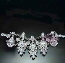 Bridal Rhinestone Crystal Tiara  Hair Chain Forehead Wedding Jewelry - $8.90