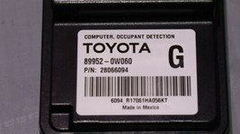 Lexus Toyota Occupant Detection Sensor Module Computer 89952-0W060 image 2