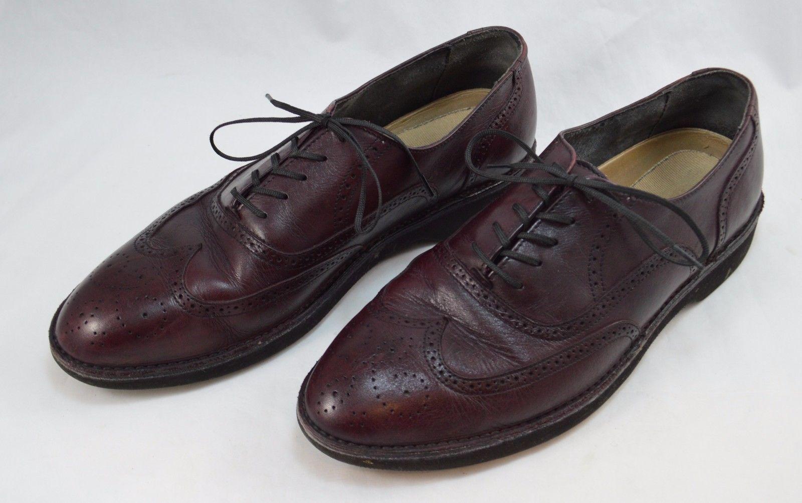 cebacc3711 57. 57. Previous. Rockport Dressports Burgundy Wingtip Brogue Oxford Vibram Shoes  Mens 9.5M ...
