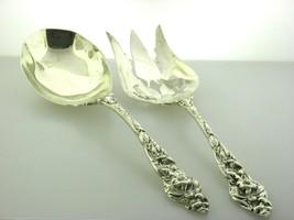 Silvercraft Sterling Silver Salad Serving Set Large Spoon & Fork  - $455.39