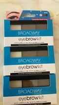 3x Broadway colors Eyebrow kit BW02 Dark Brown - $4.00