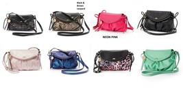 NEW! Juicy Couture Messenger Crossbody Small Bag Purse - Faux Leather - $42.47
