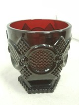 "Vintage Avon Ruby Red Footed Glass Cups 4"" - $7.34"