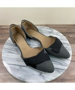 J. Jill Gray Black Houndstooth Fabric Pointed Toe D'Orsay Flats Womens S... - $39.95
