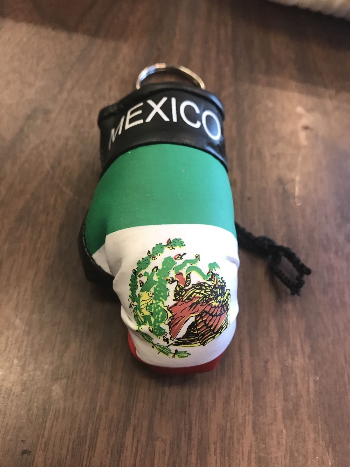 Mexico Boxing Glove Keychain Keys Green Black Red Rings Jewelry Organize Auto