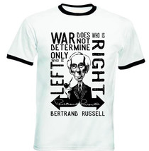 BERTRAND RUSSELL WAR QUOTE - NEW BLACK RINGER COTTON TSHIRT - $26.91