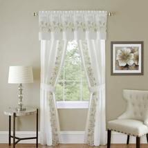 Achim Home Furnishings White, Kenya Window Curtain Panel, Black, 50 x 63-Inch, 5 - $38.53+