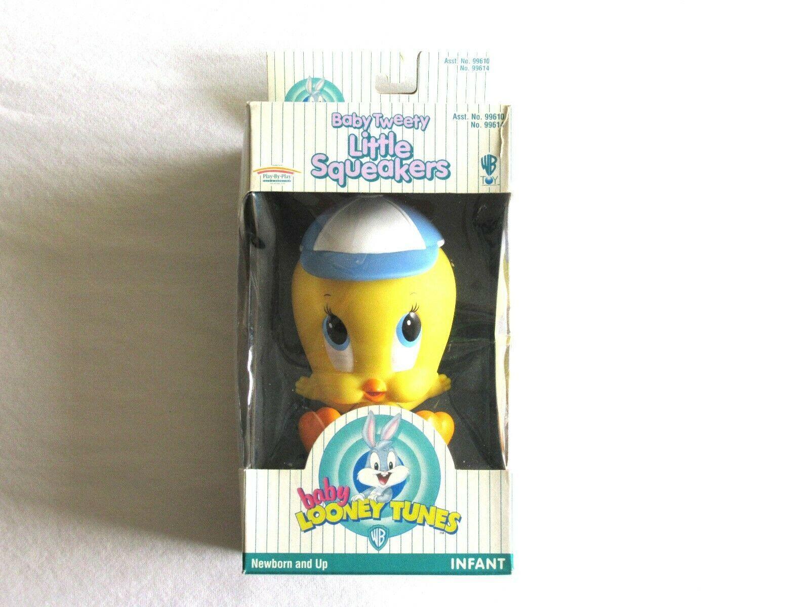 Vintag Warner Bros WB Looney Tunes Baby Tweety Bird 1997 Figure Little Squeakers - $14.24
