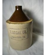 Vintage Scranton PA Whiskey Liquor Half Gallon Jug Crock M. Bosak Co.  - $65.00
