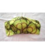 Handmade Face Mask Cotton Child Baseball 3 Layer Non Woven Interfacing W... - $10.99