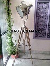 Nauticalmart Designer Nickel Finish Tripod Floor Lamp For Living Room - $444.51