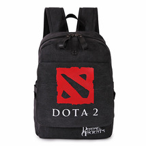 Dota2 game theme waterproof  black canvasstudents bag - $30.00