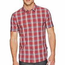 John Varvatos Star USA Men's Short Sleeve 2 Button Pocket Plaid Shirt Cr... - $54.90
