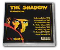 THE SHADOW FILMS COLLECTION - 6 DVD-R - 8 MOVIES - 1937-1958 - $28.05