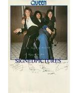 QUEEN BAND SIGNED AUTOGRAPHED RP PHOTO FREDDIE MERCURY MAY DEACON AND TA... - $16.99