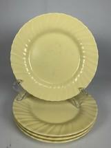 "4 Vintage Franciscan Coronado Swirl Yellow Matte 8"" Salad Plates - $29.69"