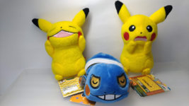 Pokemon   2 Pikachu & Gureggru   3 Small  Plush  Doll  ( about 5 in )  NEW - $9.56